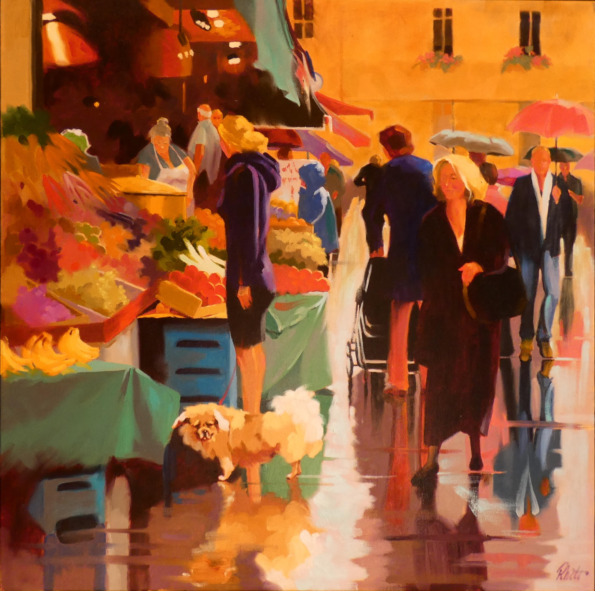 Paris Market Take Two, 30x30