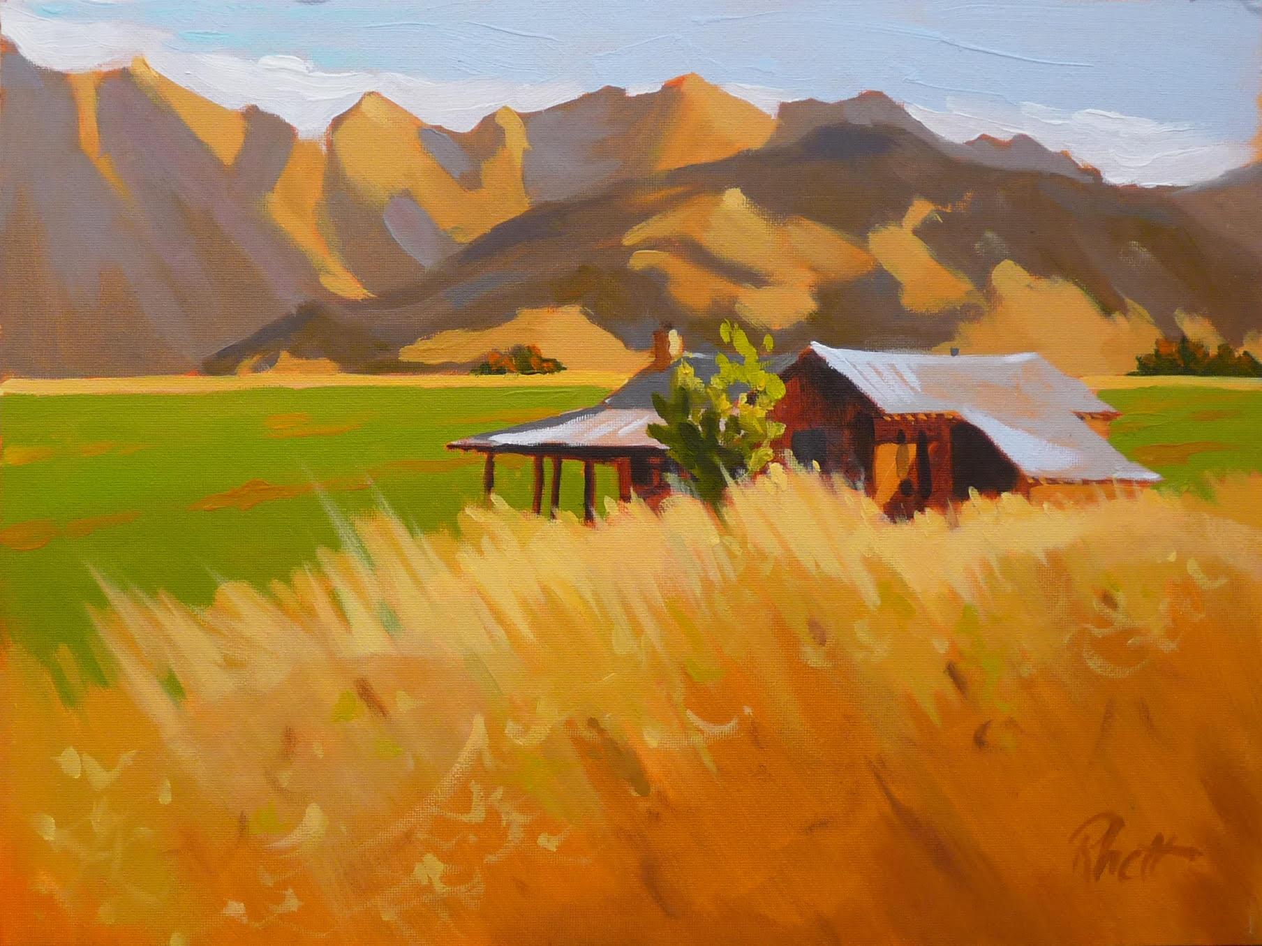 Montana Cabin, 9 x 12
