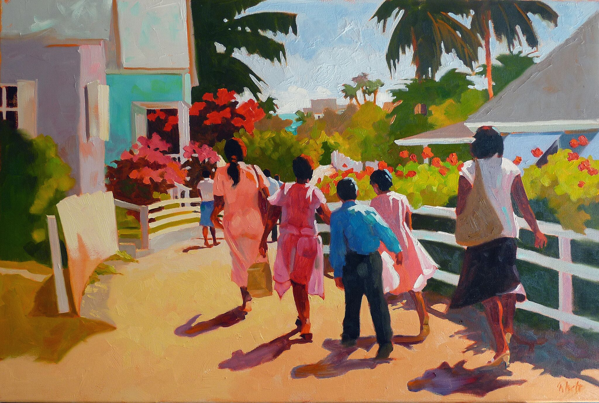 After Church Hopetown, 20 x 30