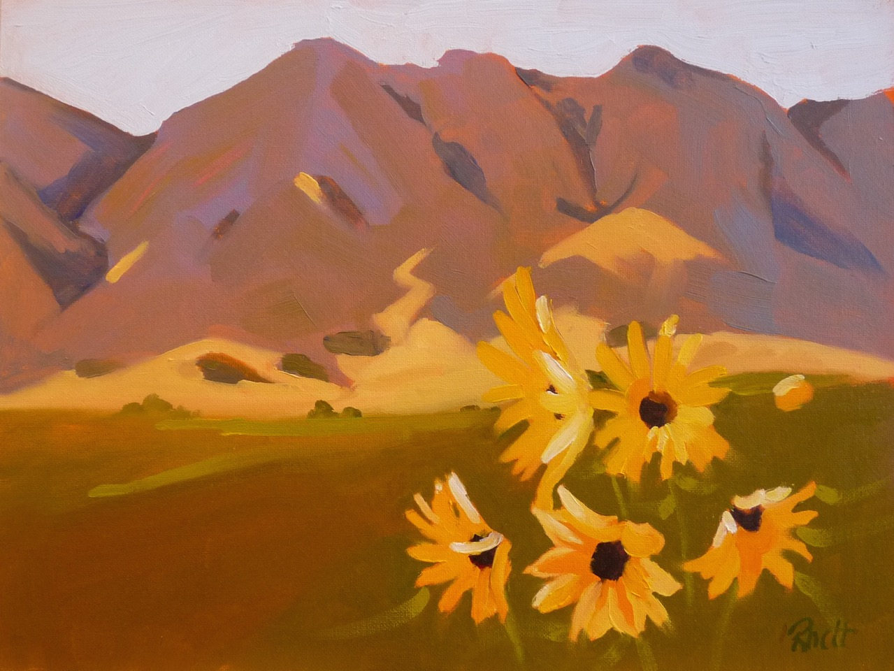 Wyoming Sunflowers II, 9x12