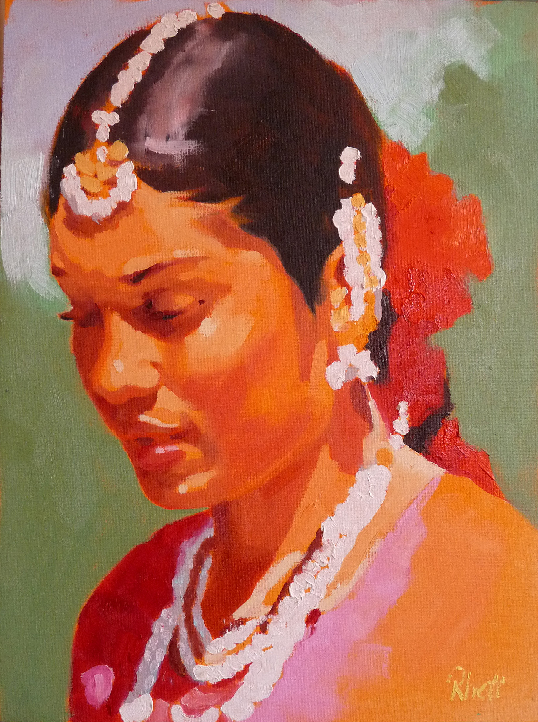 Indian Dancer III, 12x9
