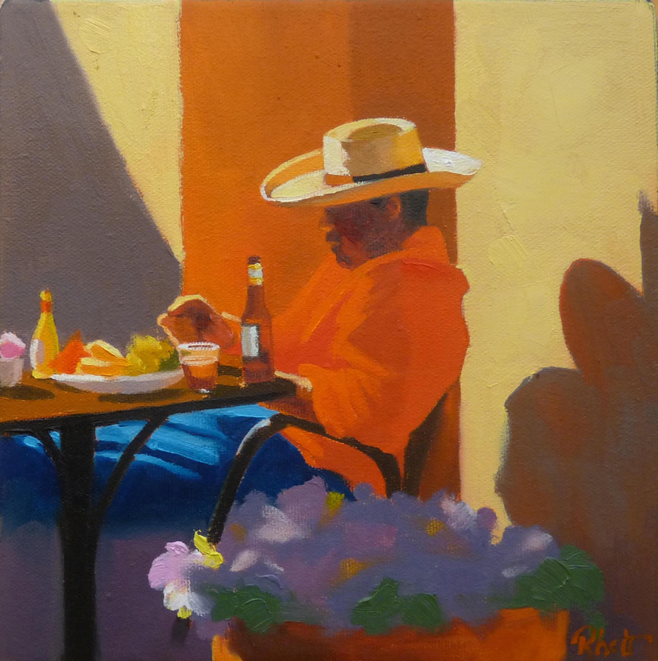 Sittin' in the Mornin' Sun, 8 x 8