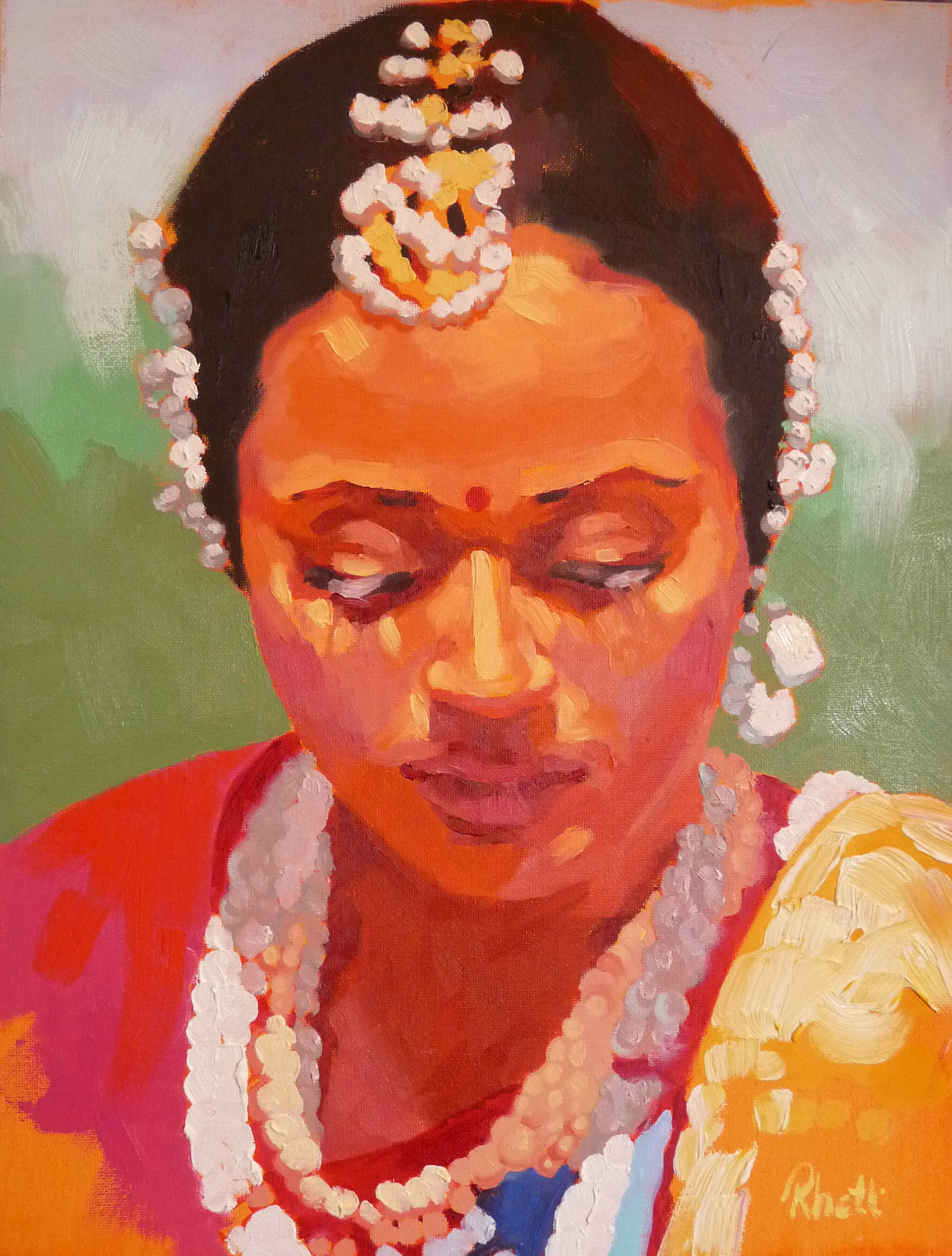 Indian Dancer II, 12x9