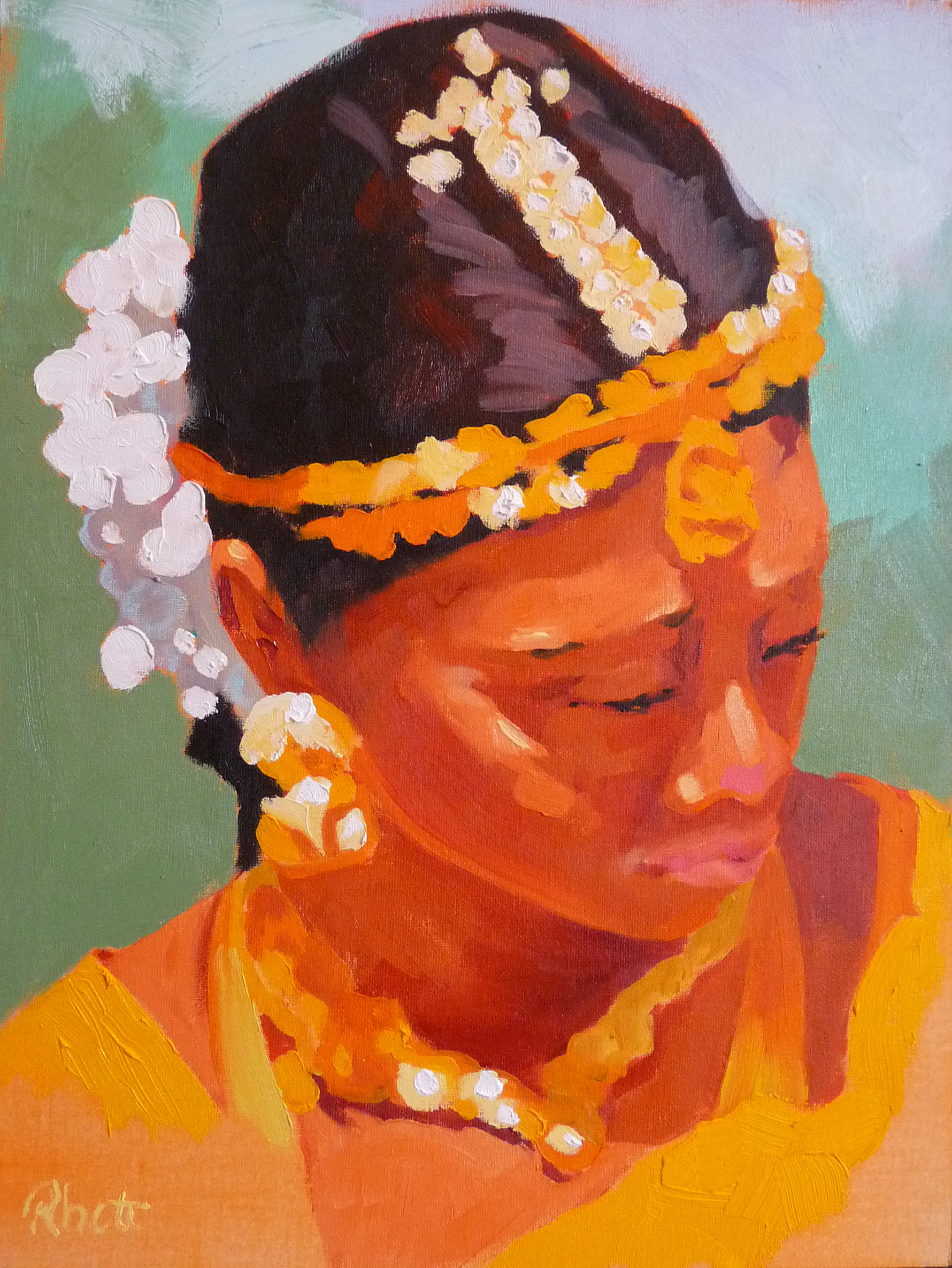 Indian Dancer I, 12x9