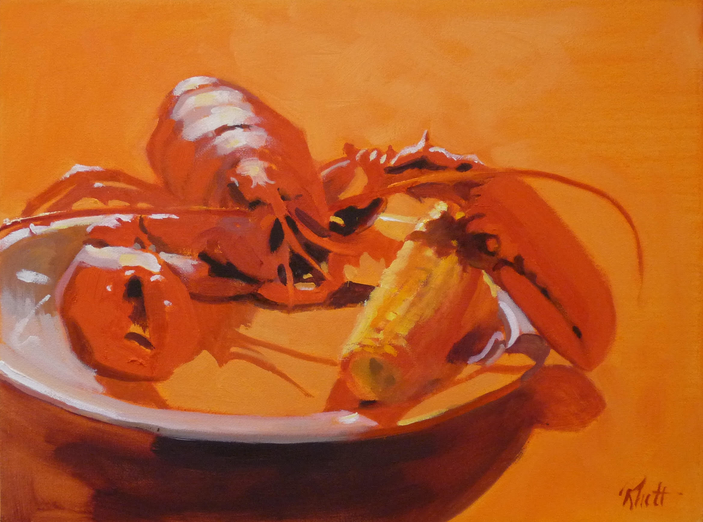 Lobster Redux, 9 x 12