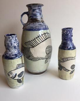 Vases by Blue Sky Pottery