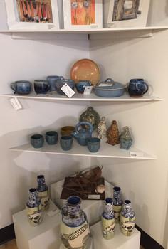 Original watercolours, pottery