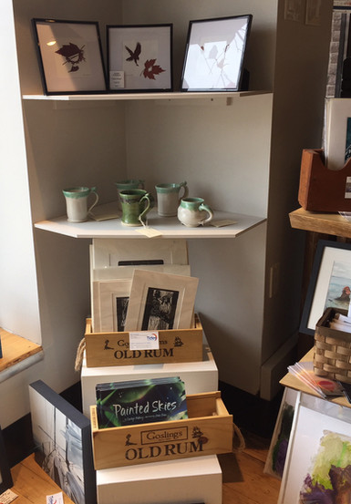 Mugs, prints, books, original leaf art