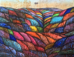 Quilted landscape - Bright