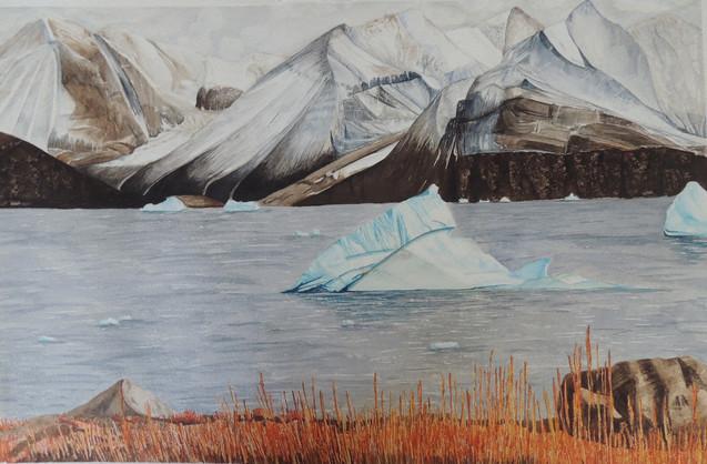 Iceberg at Karrat Fjord, Greenland Water