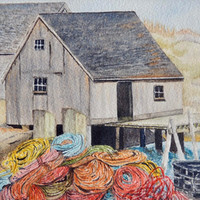 Coloured Ropes, Peggy's Cove