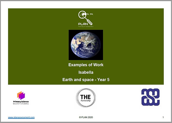 Examples of work - Earth and space (Y5) - Isabella