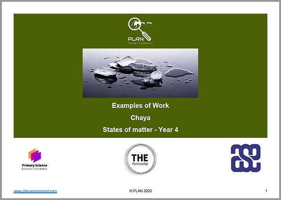 Examples of work - States of matter (Y4) - Chaya