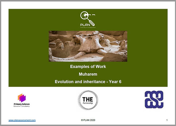Examples of work - Evolution and inheritance (Y6) - Muharem
