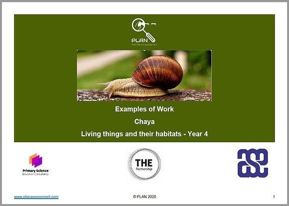 Examples of work - Living things and their habitats (Y4) - Chaya