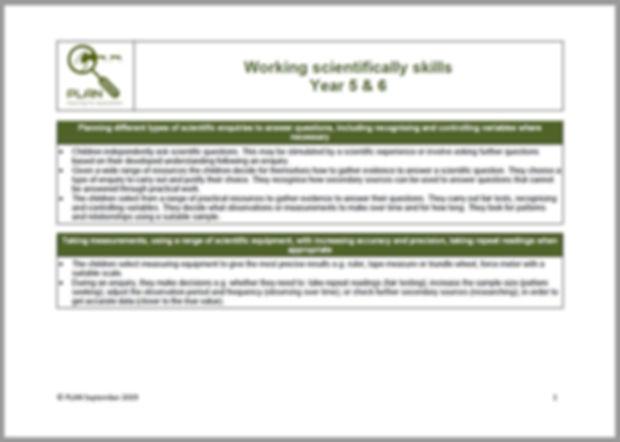 Working scientifically matrix - Y5+Y6.jp