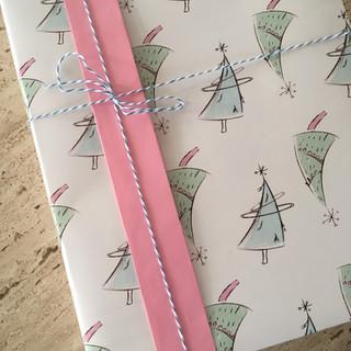 Futuristic Christmas Tree Gift Wrap