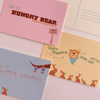 Hungry Bear Postcard Set