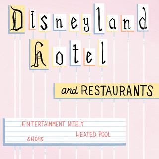 vintage disneyland hotel sign