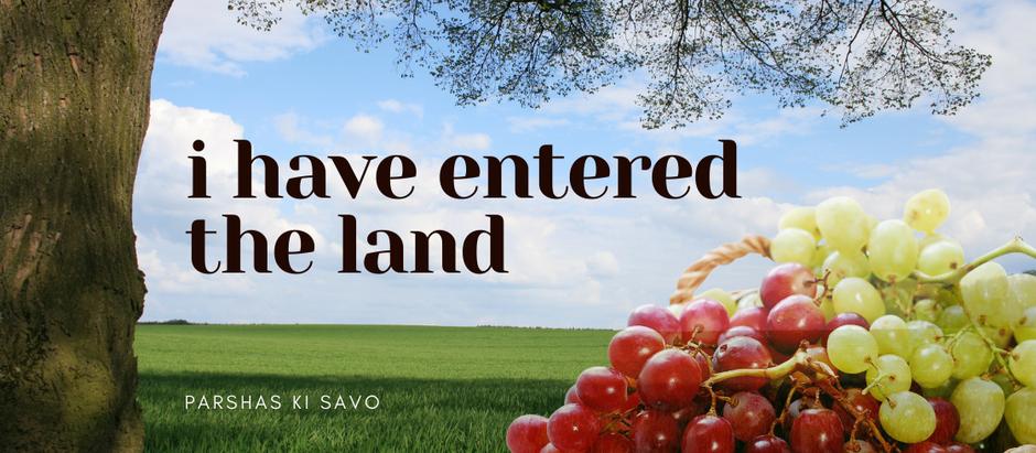 Ki Savo: I Have Entered the Land