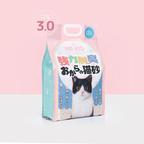 (抗疫優惠)NE-KO 3.0天然豆腐砂18L-花茶味 x 3包