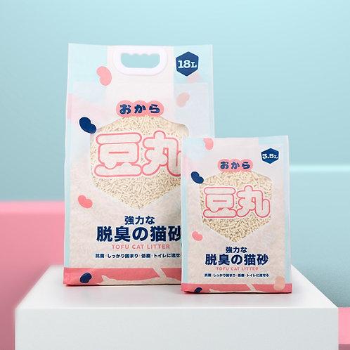 (缺貨中,1月尾返貨)豆丸 天然原味豆腐砂18L+3.5L裝