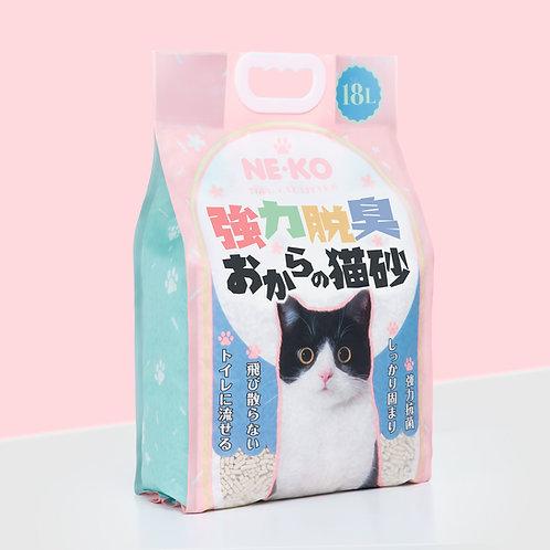 NE-KO 天然粗粒豆腐砂18L-花茶味 x 3包