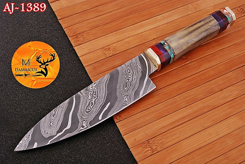 DAMASCUS STEEL CHEF KNIFE- AJ 1389