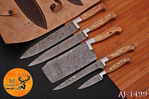 DAMASCUS STEEL CHEF KITCHEN KNIFE SET- AJ 1499