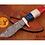 Thumbnail: DAMASCUS STEEL SKINNER HUNTING KNIFE - AJ 1154