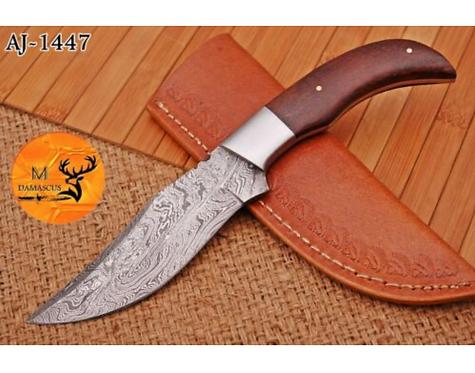 DAMASCUS STEEL SKINNER HUNTING KNIFE - AJ 1447