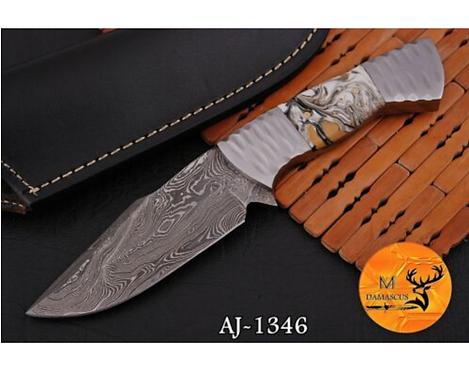 DAMASCUS STEEL SKINNER HUNTING KNIFE - AJ 1346