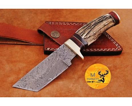 DAMASCUS STEEL SKINNER HUNTING KNIFE - AJ 1127