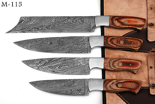 DAMASCUS STEEL CHEF KNIFE KITCHEN SET - M 115