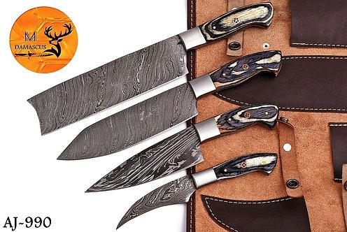 DAMASCUS STEEL KITCHEN CHEF KNIFE SET- AJ 990