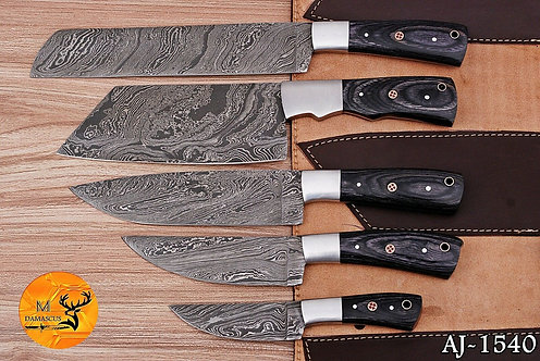 DAMASCUS STEEL CHEF KITCHEN KNIFE SET- AJ 1540
