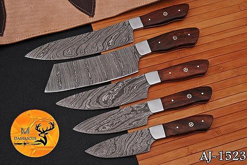 DAMASCUS STEEL CHEF KITCHEN KNIFE SET- AJ 1523