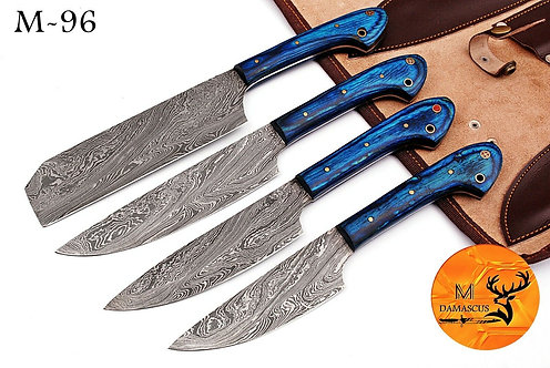 DAMASCUS STEEL KITCHEN CHEF KNIFE SET- M 96