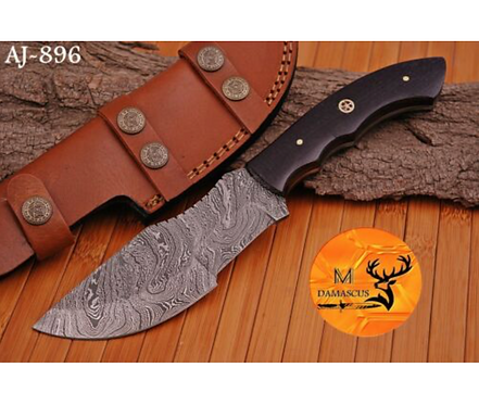 DAMASCUS STEEL TRACKER KNIFE- AJ 896