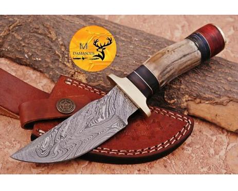 DAMASCUS STEEL SKINNER HUNTING KNIFE - AJ 1126