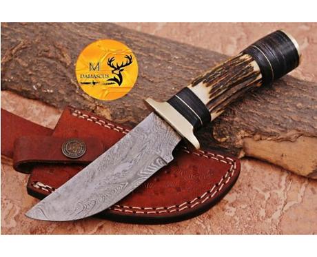 DAMASCUS STEEL SKINNER HUNTING KNIFE - AJ 1125