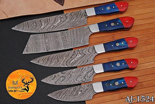 DAMASCUS STEEL CHEF KITCHEN KNIFE SET- AJ 1524