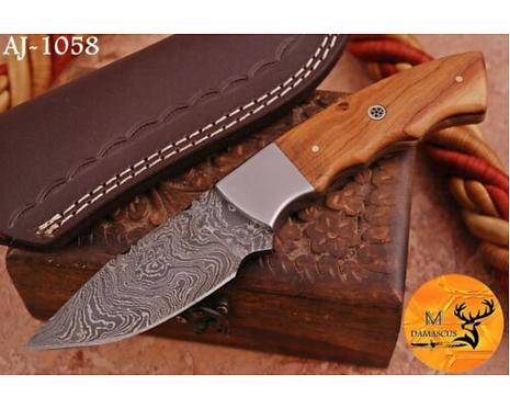 DAMASCUS STEEL SKINNER HUNTING KNIFE - AJ 1058
