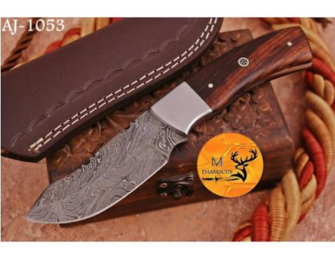 DAMASCUS STEEL SKINNER HUNTING KNIFE - AJ 1053