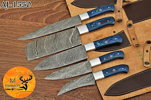 DAMASCUS STEEL CHEF KITCHEN KNIFE SET- AJ 1550