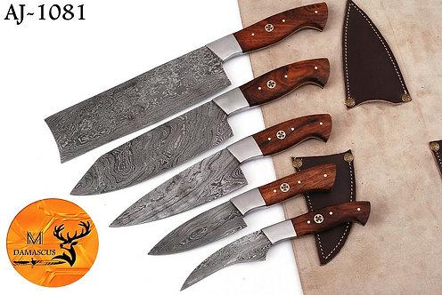 DAMASCUS STEEL CHEF KITCHEN KNIFE SET- AJ 1081