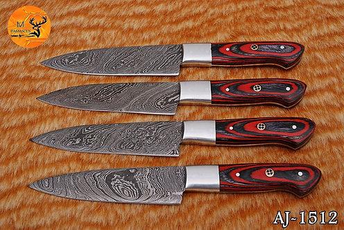 DAMASCUS STEEL STEAK CHEF KNIVES SET- AJ 1512