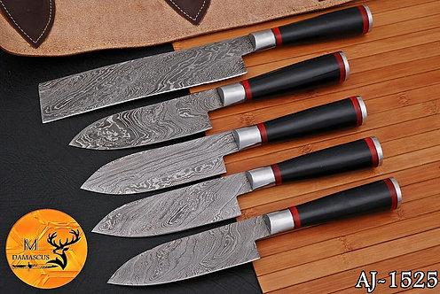 DAMASCUS STEEL CHEF KITCHEN KNIFE SET- AJ 1525