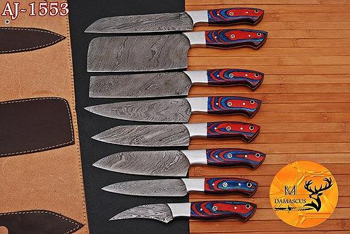 DAMASCUS STEEL CHEF KNIFE SET- AJ 1553