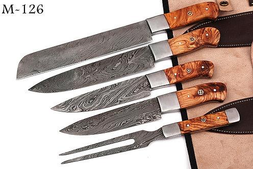 DAMASCUS STEEL CHEF KNIFE KITCHEN SET- M 126